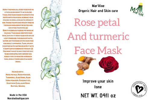 Rose Petal / Turmeric Mask
