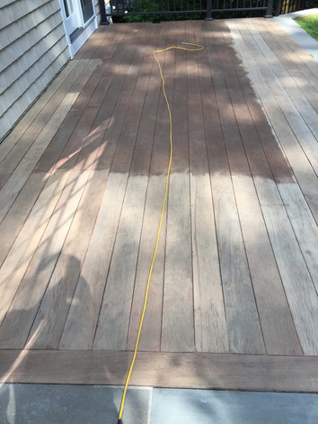 OUTDOOR DECK--BEFORE SANDNG AND STAIN