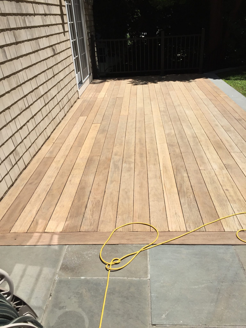 SANDING COMPLETE ON THIS OUTDOOR DECK