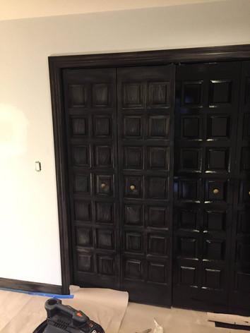 BEAUTIFUL DARK WOOD BEDROOM DOORS