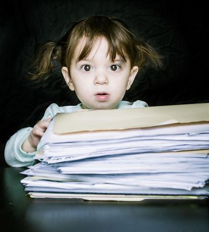 overwhelmed by paperwork