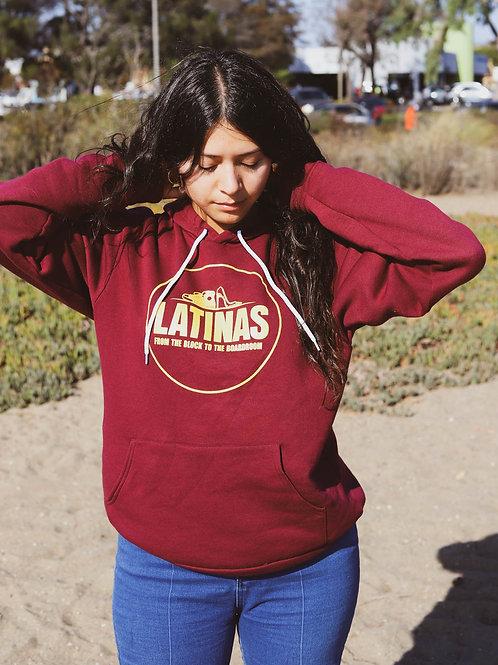 Latinasb2b Deep Red Bella Pullover Hoodie