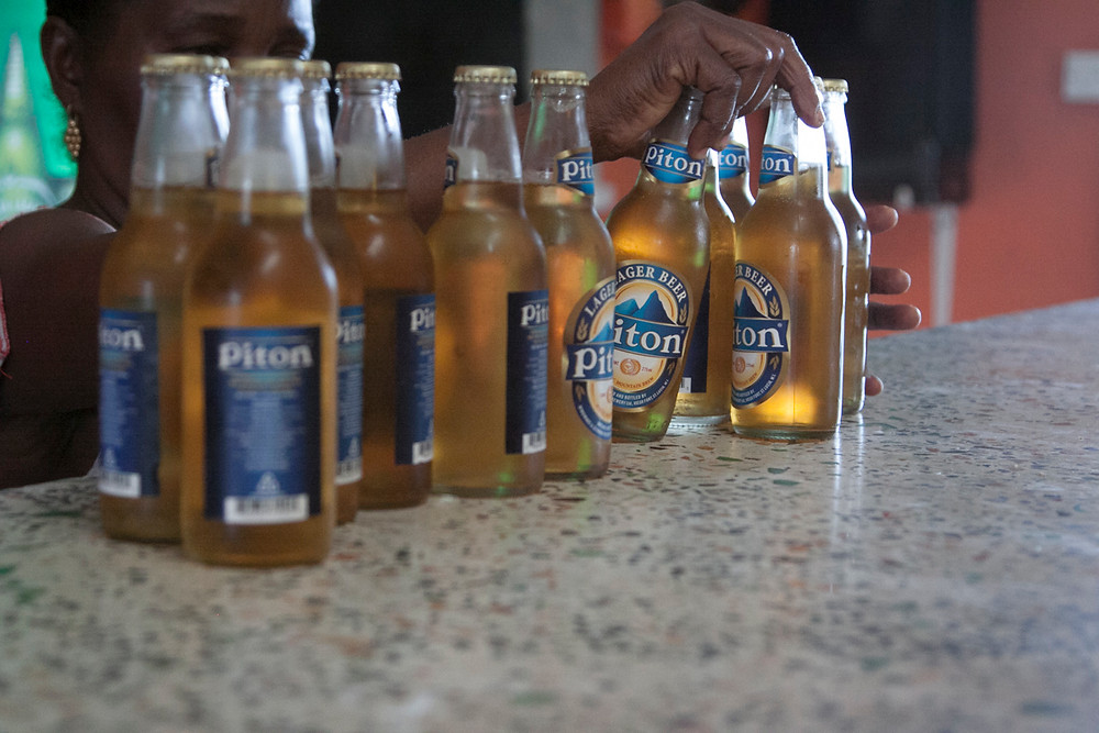 st. lucia piton beer locals