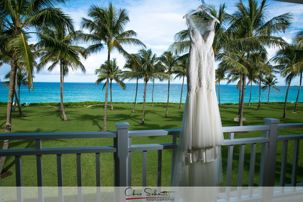 One and Only Ocean Club Wedding Dress nassau