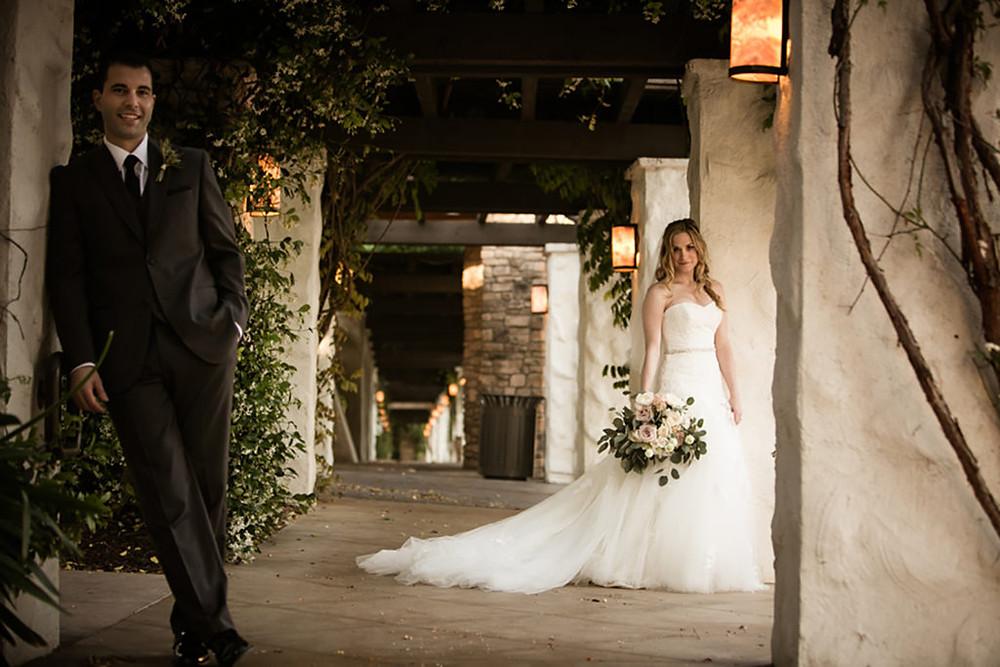 bride and groom westlake village inn