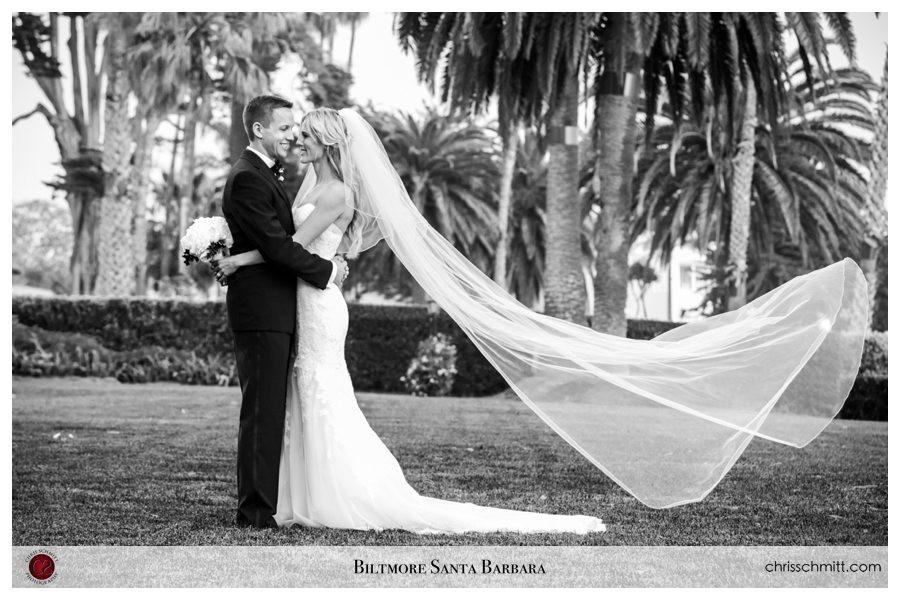 4 seasons Santa Barbara Wedding Biltmore Bride and Groom