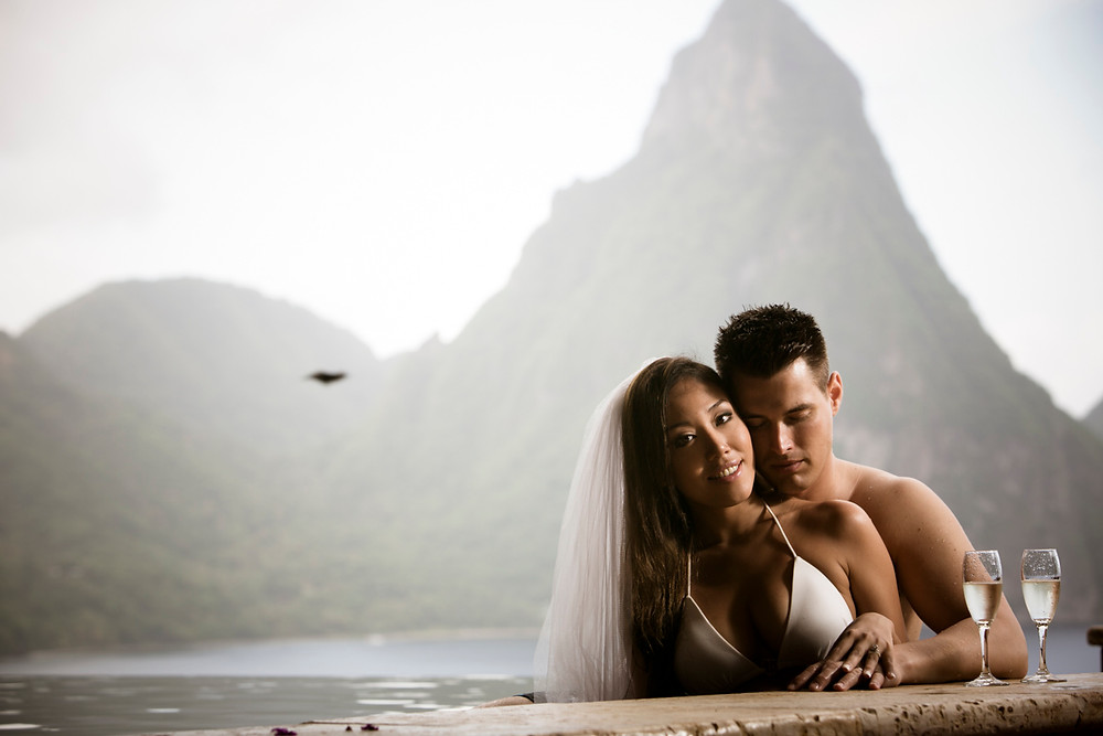 st. lucia jade mountain wedding photography