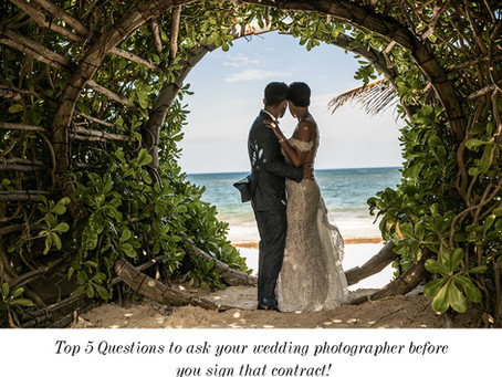 Top 5 Questions you should be asking your wedding photographer before you sign a contract.