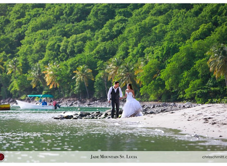 Destination Wedding at Jade Mountain St. Lucia