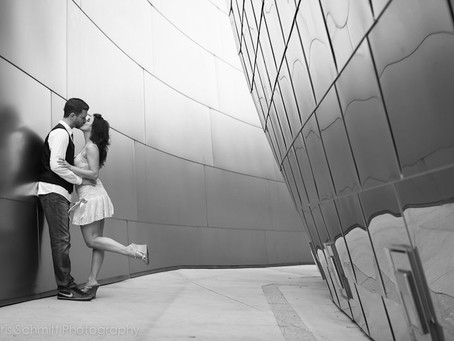 Union Station and Disney Hall Engagement Pictures|Matt+ Nikki