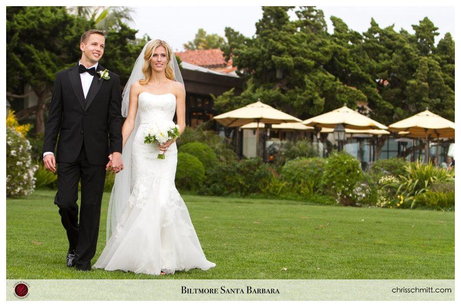 Biltmore Santa barbara Bride and Groom