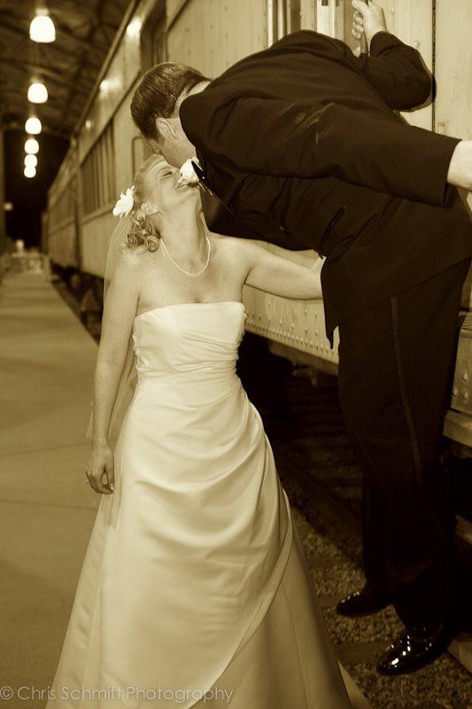 train wedding photos