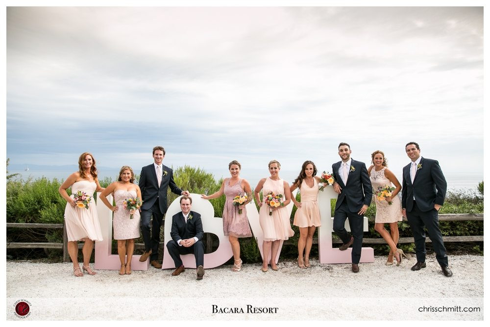 Bacara Resort wedding party