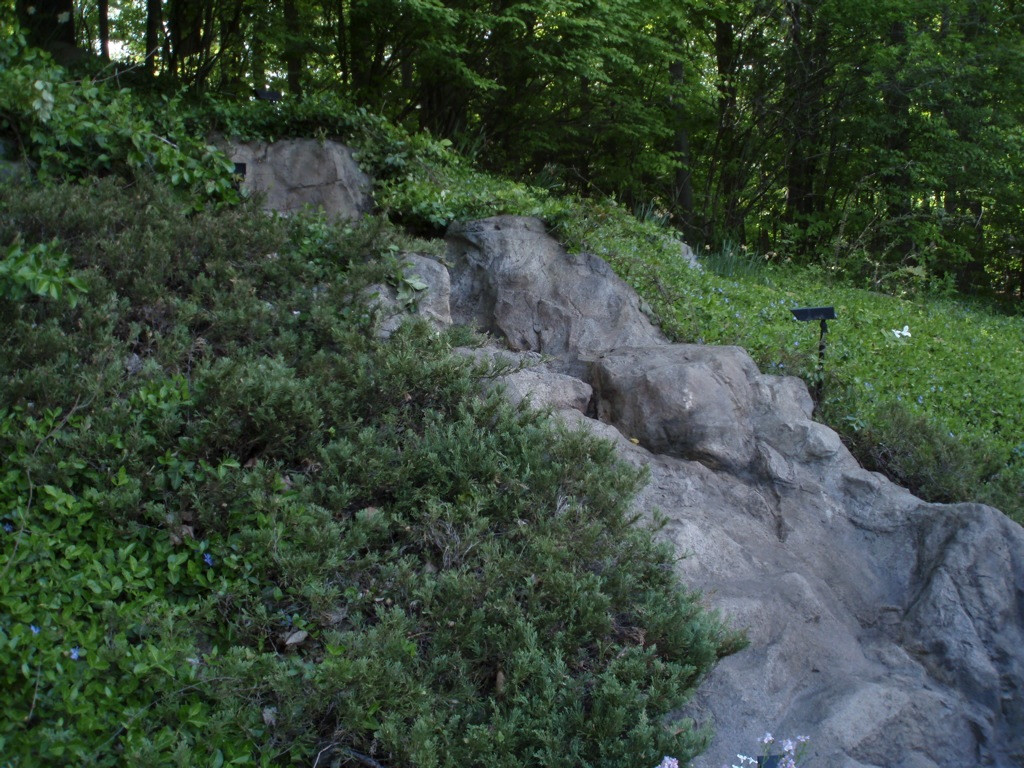 artificial rock waterfall