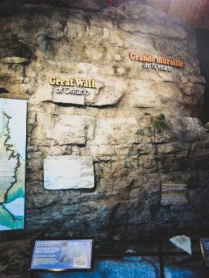 Artificial limestone wall