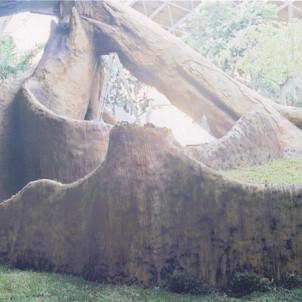 Artificial Tree Retaining wall