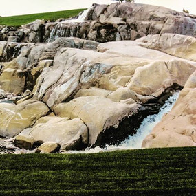Massive formation turned into an incredible waterfall