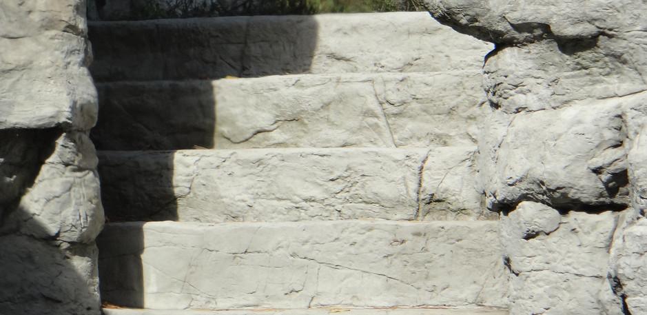 Artificial Rock Staircase