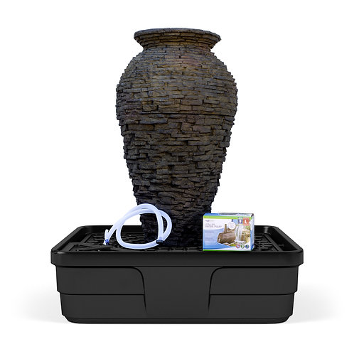 Medium stacked slate urn fountain Kit