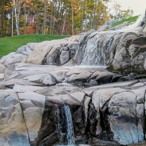 Turning a natural Granite feature into a waterfall