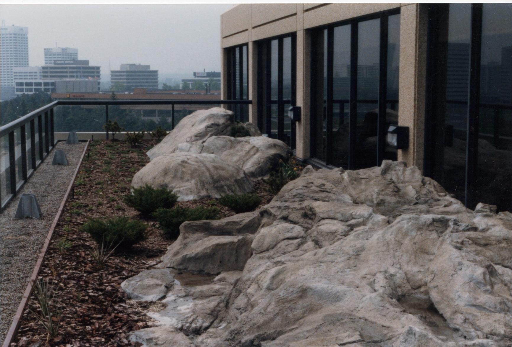 Rooftop Rock Garden Office Space