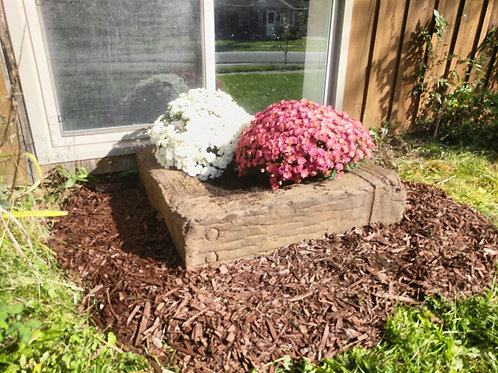 Small faux wood planter box