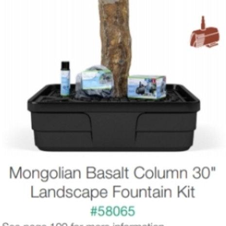 "30"" mongolian Basalt Column Fountain Kit"