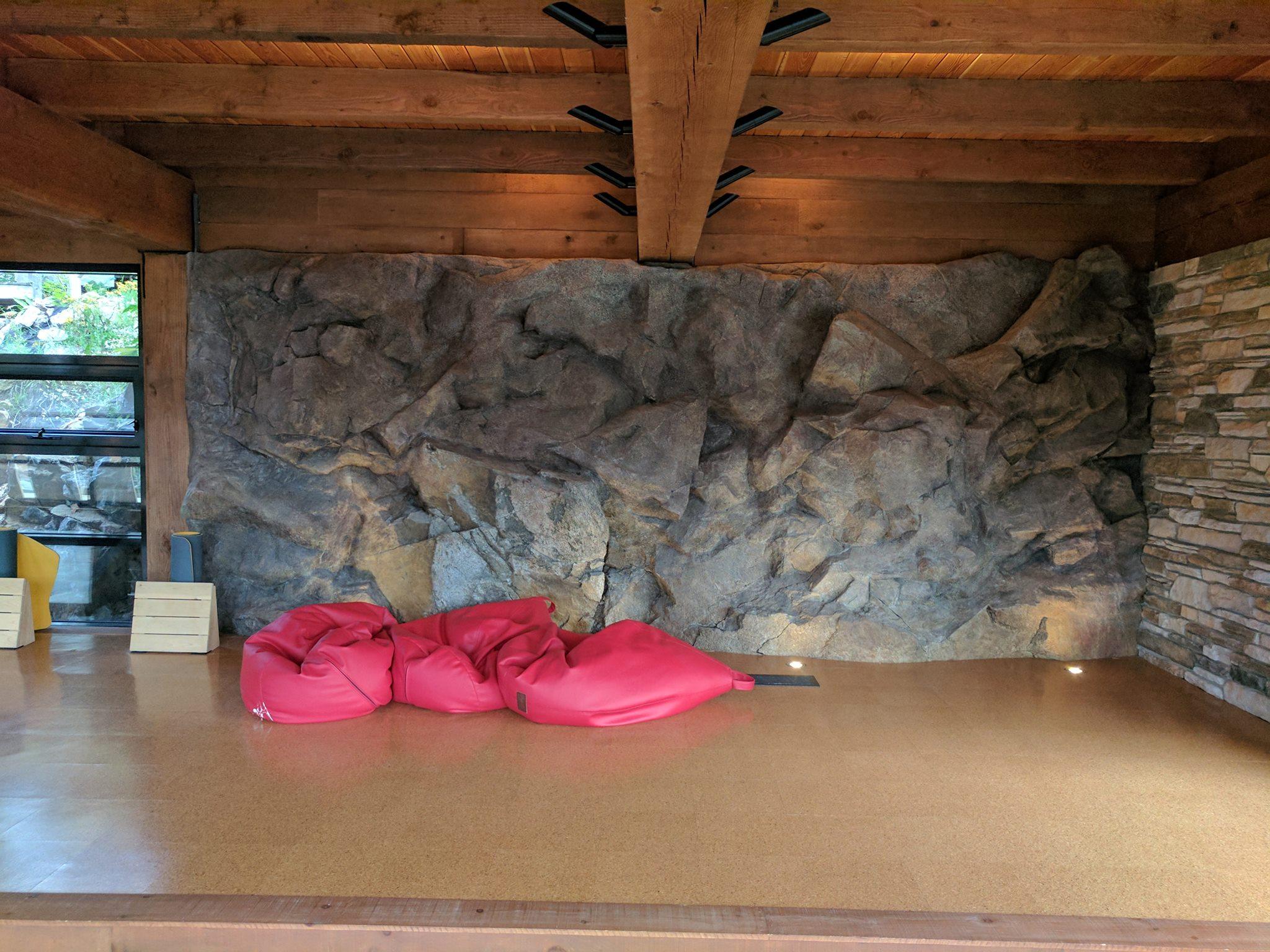 Yoga Studio Rock wall