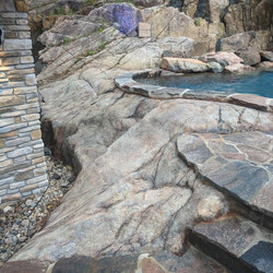 Natural retaining wall and storage