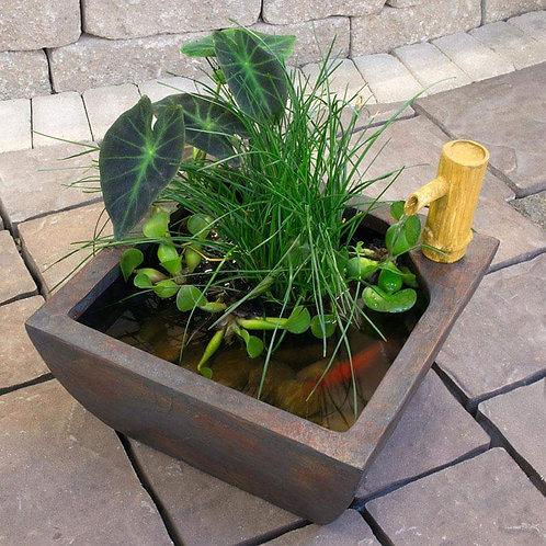 "16"" patio pond fountain kit"