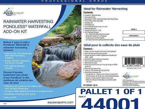 Rainwater Harvesting Pondless¨ Waterfall Add-On Kit