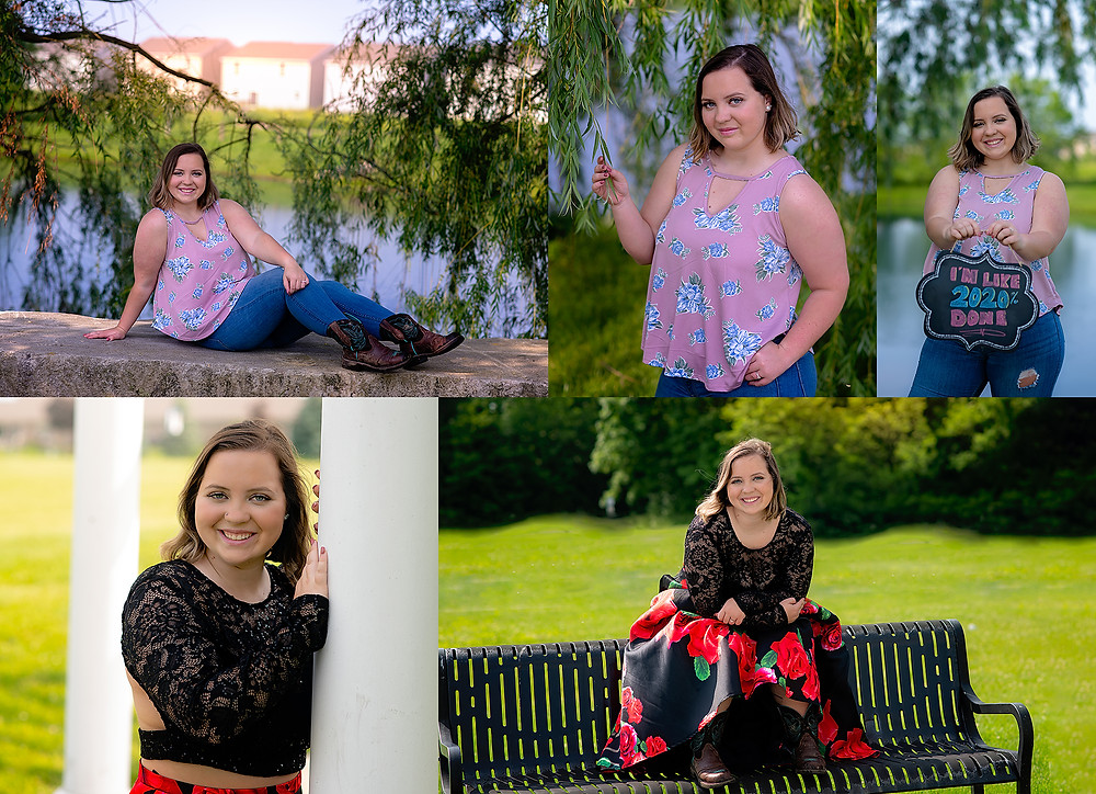 Greenwood Indiana University Park Prom Dress Senior Portraits by Lisa Cox Photography