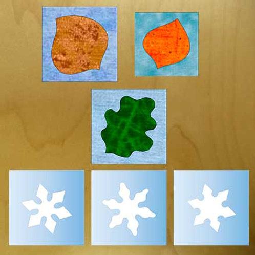 Aspen, Oak Leaf & Snowflakes