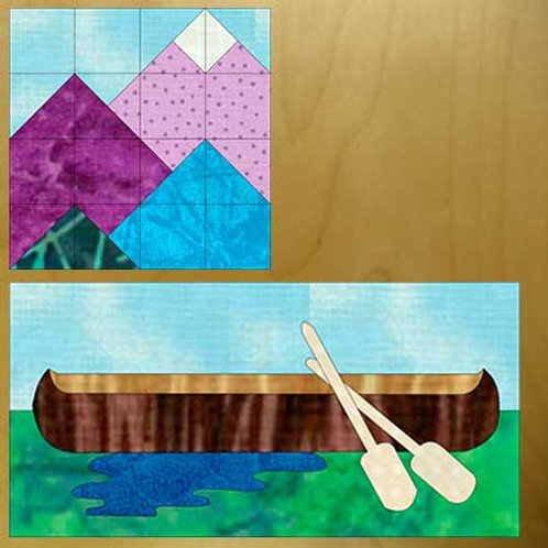 Mountain View and Canoe