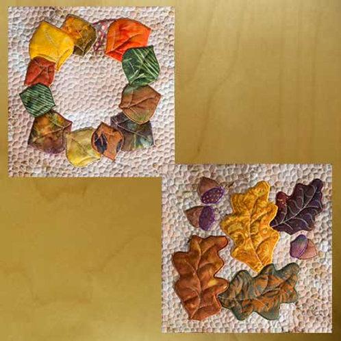 Aspen Wreath &  Oak Leaves with Acorns