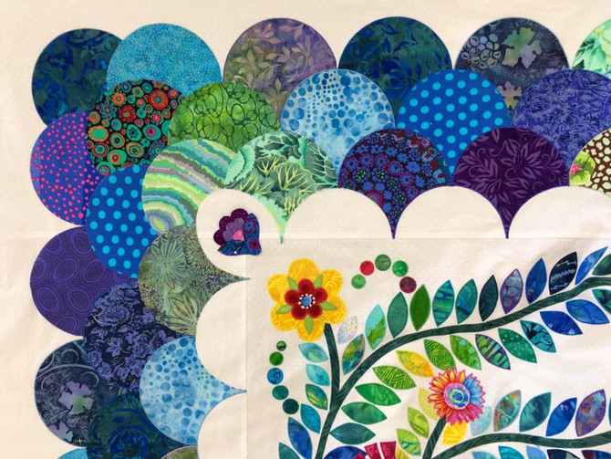 Jackie & Madeleine's Clamshell Border Quilt