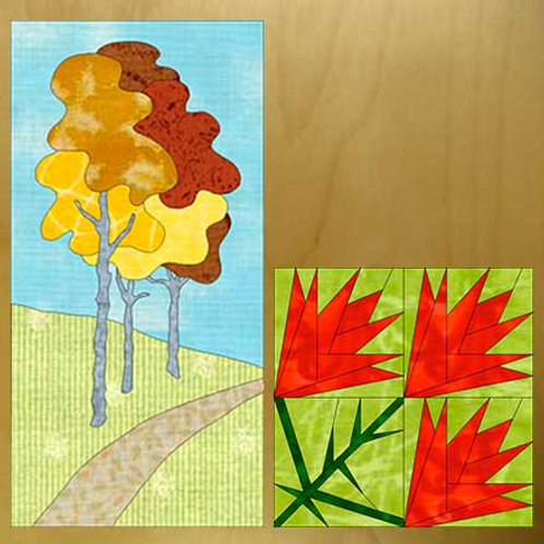 Autumn Aspens and Indian Paintbrush