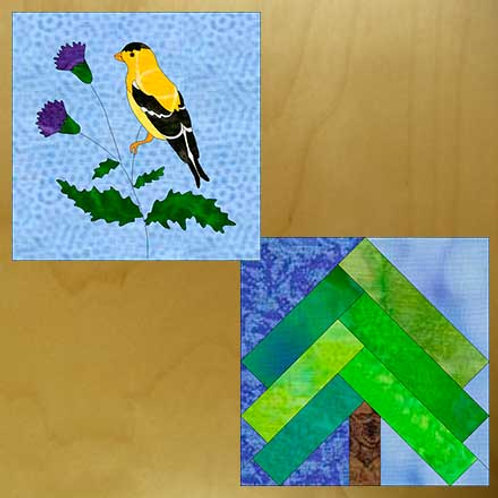 Goldfinch, Thistle & Evergreen