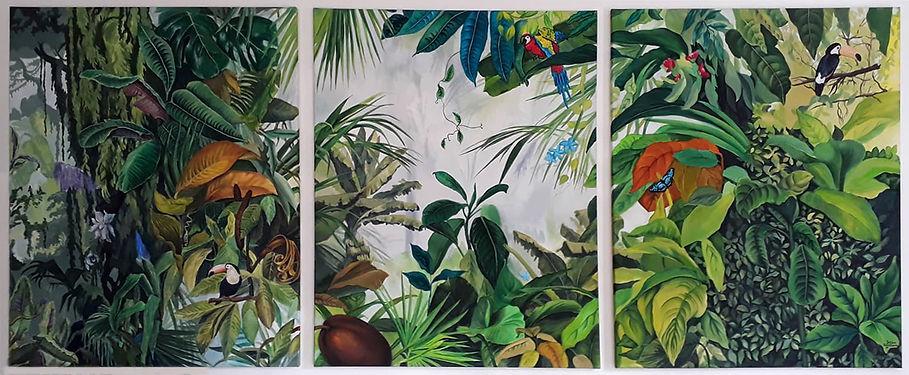 Jungle, 210x100, acrylique sur toile, 20