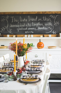 Halloween Dinner Table Set