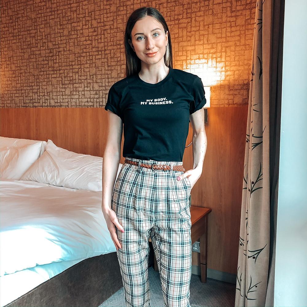 Leanne Holder - Tartan Trousers