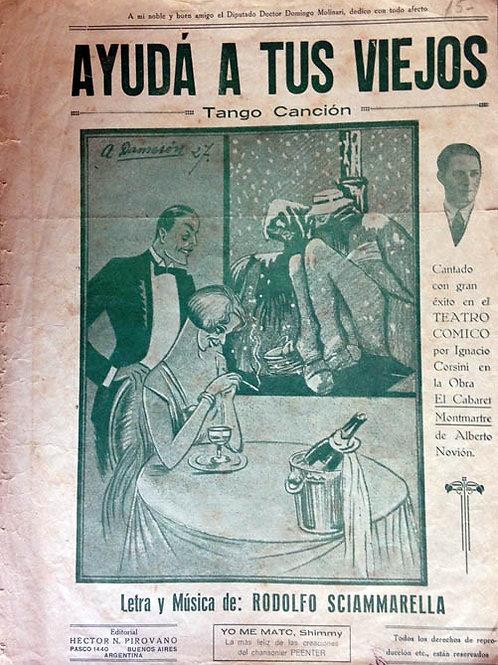 """""""AYUDA A TUS VIEJOS"""" Original Tango Score"""