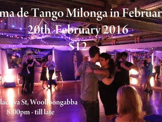 The Milonga is on this Saturday in Brisbane