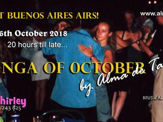 October's Milonga is on Next Saturday!