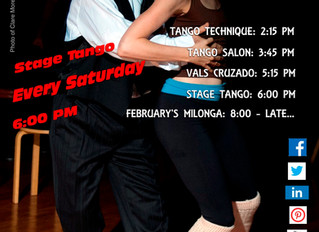 Do Not Miss February's Last Special Vals Class!  Then... 8 PM February's Milonga Will Be ON!