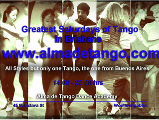 This Easter Saturday is also Another Greatest Saturday of Tango in Brisbane!