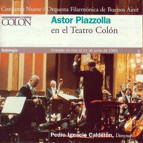 ASTOR PIAZZOLLA EN EL TEATRO COLON