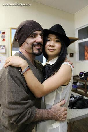 Shirley with Principal Hugo Fernández