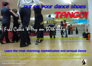YOUR TANGO ADVENTURE STARTS NOW at the University of Queensland!