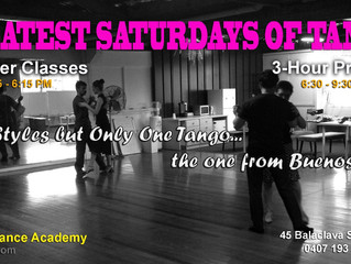 Every Saturday The Top Tango is in Brisbane!